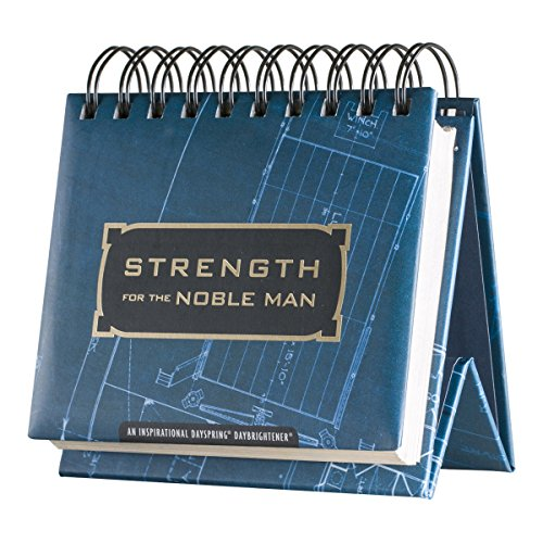 DaySpring Strength for the Noble Man, DayBrightener Perpetual Flip Calendar, 366 Days of Inspiration (34831) (Freestanding Cadet compare prices)