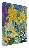 Feel Good Art mezclas cascadinglillies 2436-15FR-Tela de colores vivos abstracto parte del artista Val Johnson de flor de lis, 91 x 60 x 4 cm, tamaño XL
