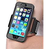 iPhone 6 Armband, SUPCASE Apple iPhone 6 Armband 4.7 inch Easy Fitting Sport Running Armband with Premium Flexible Case Combo for iPhone 6 Case, Not Fit iPhone 6 Plus 5.5 inch (Black)
