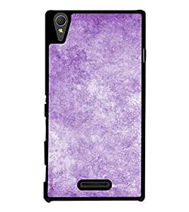 Purple Texture 2D Hard Polycarbonate Designer Back Case Cover for Sony Xperia T3