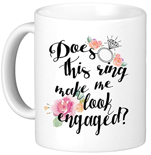 Oh, Susannah Does This Ring Make Me Look Engaged? 11oz Mug - White Gift Box (Espresso Chalkboard Tumbler compare prices)