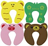 Bundle Monster New Baby / Child Animal Cushiony Finger Safety Door Stop Guard Set - 8 Piece Mixed Lot