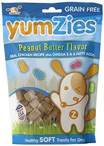 Nootie Yumzies Grain Free Peanut Butter Flavor Natural Chicken Treats, Half Pound