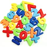 27 Piece Maths Numbers Fridge Magnets - Multicolured