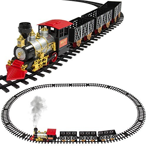 Best Choice Products ClassicTrain Set For Kids With Real Smoke, Music, and Lights Battery Operated Railway Car Set Review