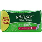 Whisper Ultra Clean - XL 30 Pads Pack