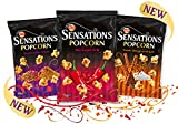 WALKERS SENSATION POPCORN SWEET INDIAN SPICES,THAI SWEET CHILLI,SWT CINNAMON SALT (PACK OF 3 x 90g) NEXT DAY DELIVERY