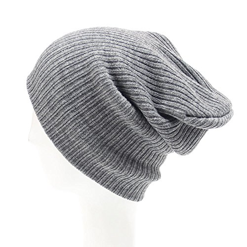 Menglihua Unisex Soft Trendy Slouchy Winter Ski Snowboard Skull Hat Ribbed Beanie Gray One Size (Happy Chef Cap compare prices)
