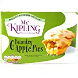 Mr Kipling Bramley Apple Pies 6 Pack 200g
