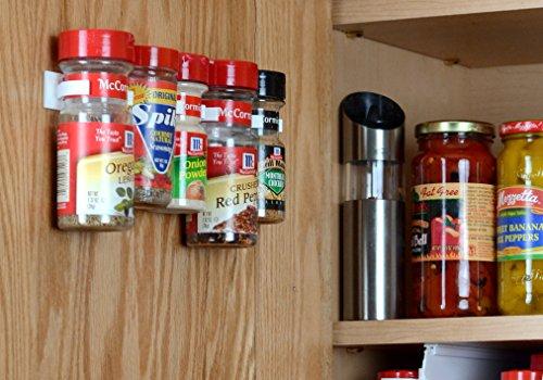 SpiceStor Organizer Rack 20 Cabinet Door Spice Clips (Kitchen Store Cabinet compare prices)