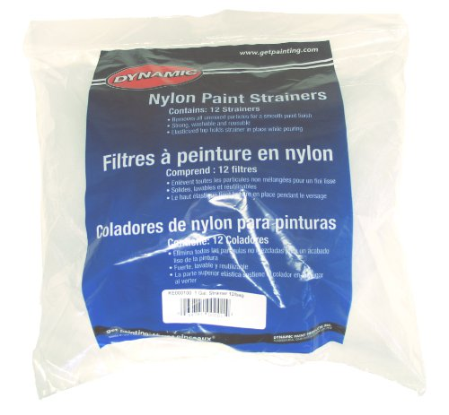 Dynamic Ke000100 Nylon Paint Strainer, 1-Gallon, 12-Pack