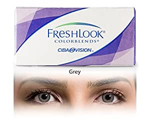 Ciba Vision Colorblends Gray Monthly Contact Lens By VisionsIndia 1.00