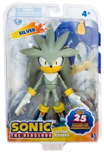 silver super poser sonic the hedgehog 75quot action figure