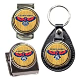 NBA Atlanta Hawks Key Chain, Money Clip & Magnet Clip Set by NYC Leather Factory Outlet