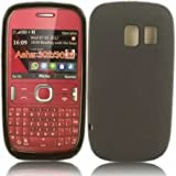 Gel Case Cover Skin For Nokia Asha 302 / Black Design