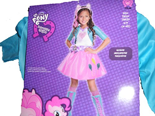 Disguise 80128L Pinkie Pie Equestrian Deluxe Costume, Small (4-6x)