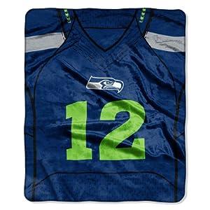 NFL Seattle Seahawks 50-Inch by 60-Inch 12th Man Design Raschel Throw by Northwest