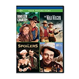 Rooster Cogburn / The War Wagon / The Spoilers (1942) / Shepherd of the Hills Four Feature Films