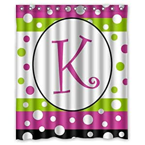 USD20 Amazon Gift Card Wedding Registry : Amazon.com: Polka Dot Party Monogram Letter H shower curtain 60x72 ...