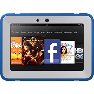 "OtterBox Defender Series Protective Case for Kindle Fire HD 7"" (Previous Generation), Blue/Sky (with built-in screen protection)"