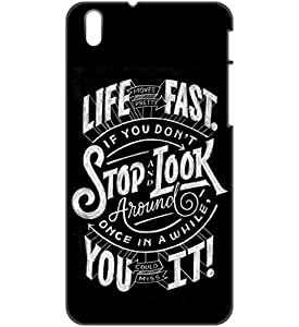 a AND b Designer Printed Mobile Back Cover / Back Case For HTC Desire 816 (HTC_816_3D_1484)