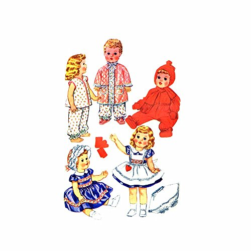 1960S Baby Walking Todder And Girls Dolls Wardrobe Mccalls 2412 Vintage Sewing Pattern Size 19 Inch - 21 Inch front-945150