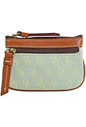 Dooney & Bourke Quilted Signature Coin Wallet Light Blue