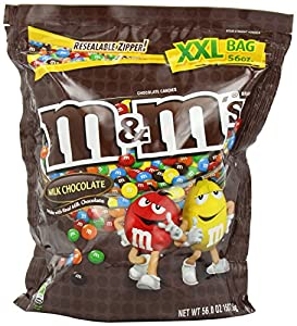 M&M Candy, Milk Chocolate, 56 Ounce (2 bags)