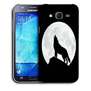 Snoogg Wolf At Night Designer Protective Back Case Cover For SAMSUNG GALAXY J7