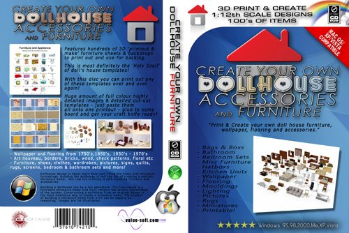 BUILD/CREATE YOUR OWN DOLLHOUSE FURNITURE (PC CDR)