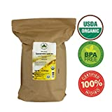 Spearmint 100% Organic (USDA seal) Loose Leaf Spearmint Herbal Tea (Mentha spicata), Caffeine Free in 1 lbs. Bulk Kraft BPA free Resealable Bags from U.S. Wellness