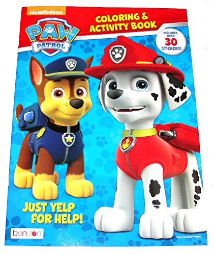 Bendon Nickelodeon Paw Patrol Just Yelp For Help! Coloring & Activity Book with over 30 Stickers A Fun Book To Color (32 total pages) - 1