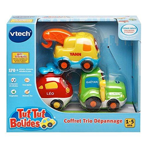 Vtech - 203905 - Jouet Premier Age - Tut Tut Bolides - Coffret Trio - Tracteur + Hélico + Bétonnière ou Dépanneuse - Modèle aléatoire