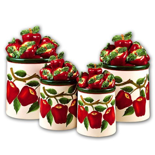 Apple 3-D Canisters Set of 4