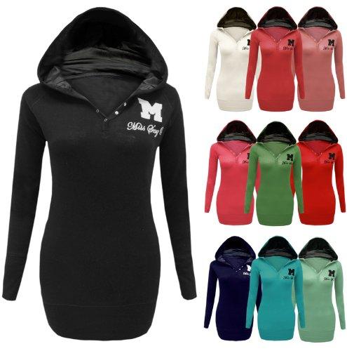 ... Miss Sexy Plain Hoodie Jumper Top Hooded Sweatshirt Sizes 8 10 12 14