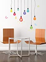 Ambiance Live Vinilo Decorativo Light bulbs and butterflies Multicolor