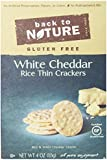 Back To Nature Gluten Free Rice Thins, White Cheddar, 4 Ounce