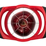 GranKitchen Apple Slicer - Corer, Cutter, and Divider - Red