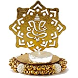 Giftacrossindia Exclusive Shadow Diya Tealight Candle Holder Of Removable Ganesha For Diwali Home Decor Gift Collection
