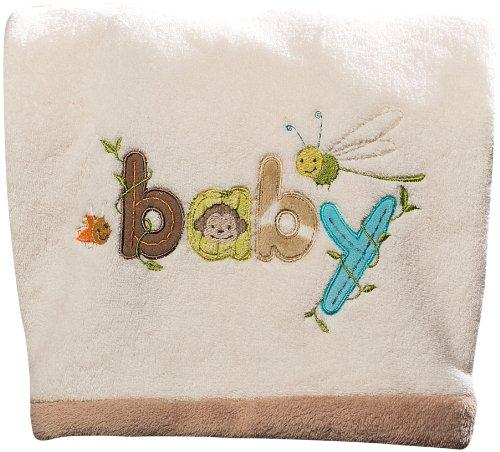 Carter'S Wildlife Baby Boa Blanket, Beige