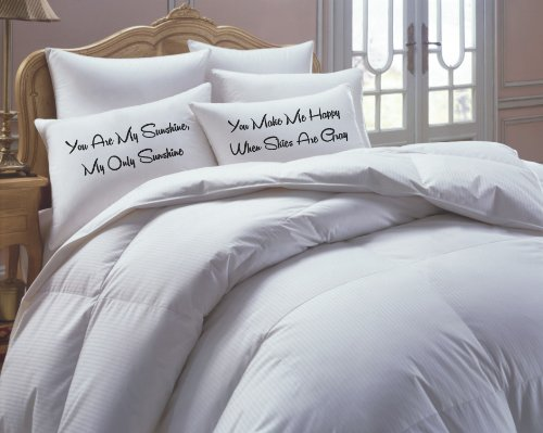 You Are My Sunshine, His Hers Pillowcase Set- NEW
