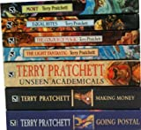 Terry Pratchett Discworld Collection 7 Books Set RRP : 87.89 (Unseen Academicals, The Colour Of Magic, Going Postal, Making Money, The Light Fantastic, Equal Rites, Mort)