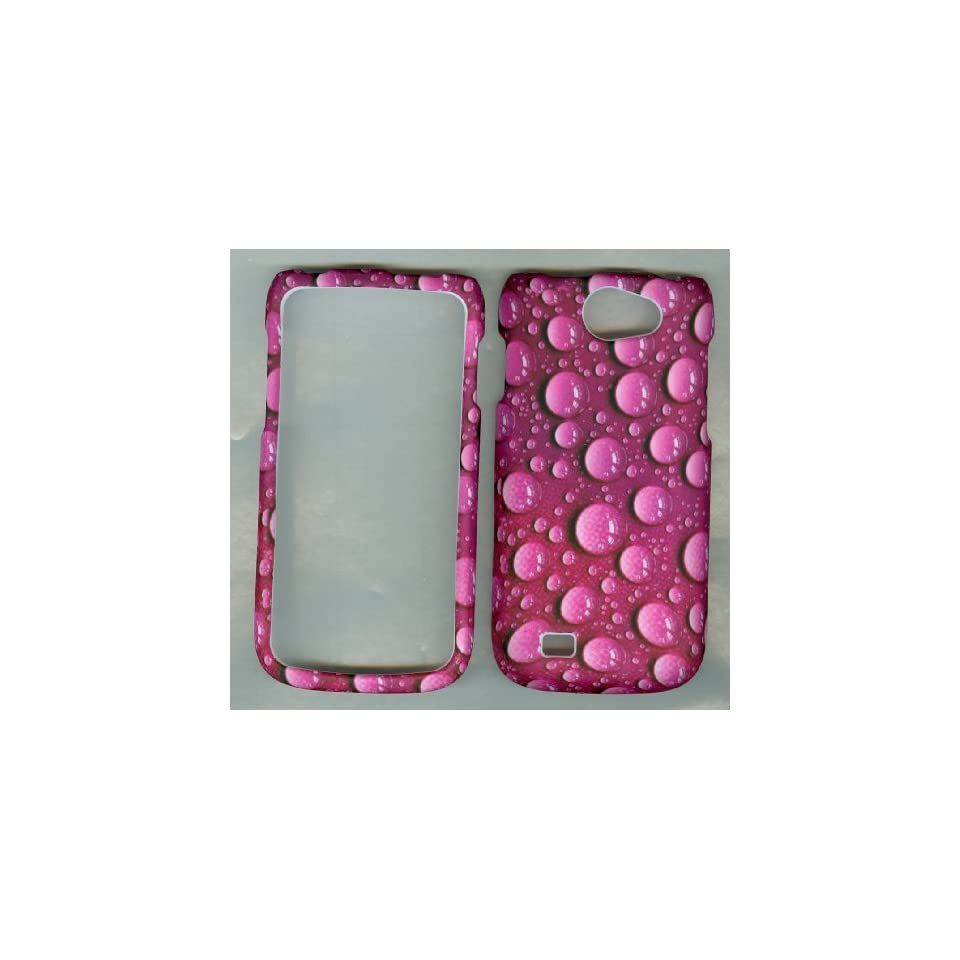 Samsung Exhibit II li 2 4G Galaxy W 4G SGH T679 T679M i8150 T MOBILE Phone CASE COVER SNAP ON HARD RUBBERIZED SNAP ON FACEPLATE PROTECTOR NEW CAMO PINK WATER DROPS Cell Phones & Accessories