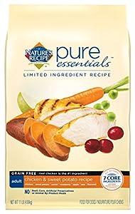Nature's Recipe Pure Essentials Grain Free Adult Chicken & Sweet Potato Recipe, 11 lb