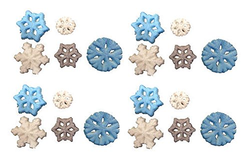 Christmas Winter Shimmer Colored Snowflake Assortment