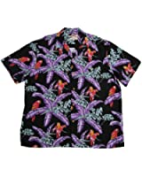 Paradise Found Mens Jungle Bird Tom Selleck Magnum PI Rayon Shirt