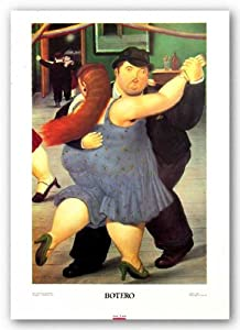 "The Dancers by Fernando Botero 23""x15.25"" Art Print Poster"
