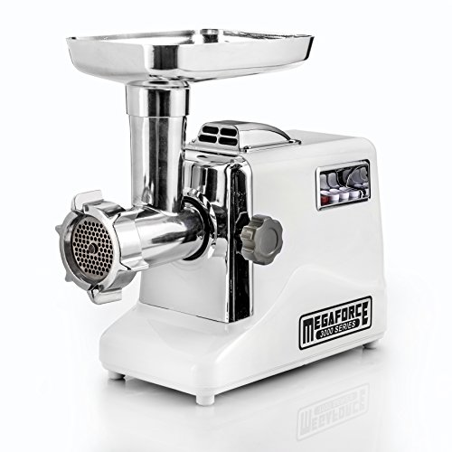 STX INTERNATIONAL STX-3000-MF Megaforce Patented Air Cooled Electric Meat Grinder with 3 Cutting Blades, 3 Grinding Plates, Kubbe and 3 Sausage Stuffing Tubes (Meat Grinders compare prices)