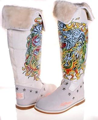 Amazon.com: Ed Hardy Womens Boots SNOWBLAZER TIGER White
