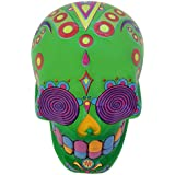 "Day Of The Dead 5"" Sugar Skull Piggy Bank Green"